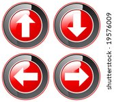 direction arrows   buttons | Shutterstock .eps vector #19576009