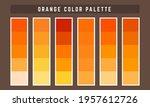 orange vector color palette... | Shutterstock .eps vector #1957612726