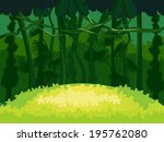 exotic tropical forest | Shutterstock .eps vector #195762080