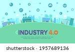 industry 4.0 banner of... | Shutterstock .eps vector #1957689136