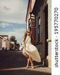 young girl dress in light air... | Shutterstock . vector #195770270