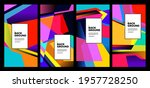 vector colorful abstract fluid... | Shutterstock .eps vector #1957728250