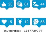 linkedin reactions in square to ...   Shutterstock .eps vector #1957739779