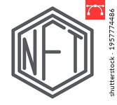 nft line icon  token and... | Shutterstock .eps vector #1957774486