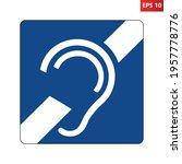 deaf symbol. vector... | Shutterstock .eps vector #1957778776