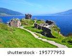 Ruins Of Urquhart Castle Along...
