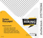 modern job vacancy square web... | Shutterstock .eps vector #1957783366