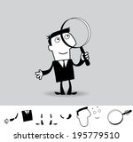 magnifying glass. business... | Shutterstock .eps vector #195779510