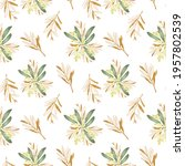 seamless pattern of blooming... | Shutterstock . vector #1957802539
