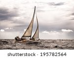 sailboat at slightly rough sea | Shutterstock . vector #195782564