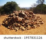 View Of Large Pile Of Rocks...