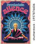 shaolin monk meditation... | Shutterstock .eps vector #1957876606