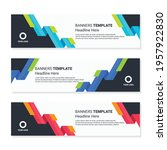 set of horizontal banner design.... | Shutterstock .eps vector #1957922830