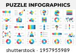 puzzle infographic set. bundle...   Shutterstock .eps vector #1957955989