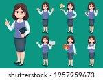 asian young woman teacher have...   Shutterstock .eps vector #1957959673