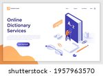 landing page template with man...   Shutterstock .eps vector #1957963570