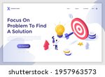 landing page template with... | Shutterstock .eps vector #1957963573