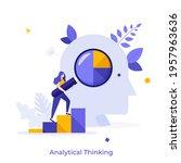 woman ascending bar chart and...   Shutterstock .eps vector #1957963636