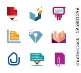 office business document symbol ... | Shutterstock .eps vector #195801296