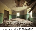 Interior Of An Abandoned House. ...