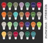 light bulb marketing words... | Shutterstock .eps vector #195808106