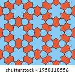 abstract colorful doodle star... | Shutterstock .eps vector #1958118556