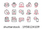 approve line icons set.... | Shutterstock .eps vector #1958124109