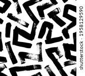 seamless zig zag vector pattern....   Shutterstock .eps vector #1958129590