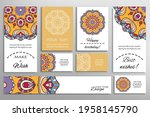 big set of greeting cards or... | Shutterstock .eps vector #1958145790
