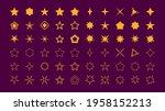 set of yellow star icons.... | Shutterstock .eps vector #1958152213