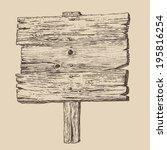 wood signboard  wooden sign ...   Shutterstock .eps vector #195816254