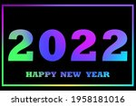 2022 color  great design for... | Shutterstock .eps vector #1958181016