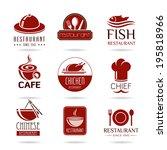 restaurant icon set | Shutterstock .eps vector #195818966