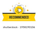 approved and recommended ... | Shutterstock .eps vector #1958190106