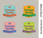set of colorful labels vector... | Shutterstock .eps vector #195819488