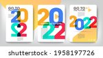 design concept of 2022 happy...   Shutterstock .eps vector #1958197726