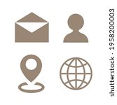 office line icon set. message ...   Shutterstock .eps vector #1958200003