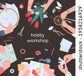 hobby workshop advertising... | Shutterstock .eps vector #1958216929