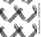 tire tracks seamless background ... | Shutterstock .eps vector #1958220730