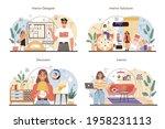 professional interior designer... | Shutterstock .eps vector #1958231113