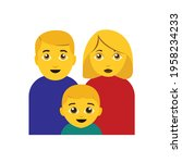 family emoji father mother boy... | Shutterstock .eps vector #1958234233