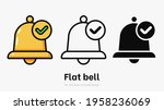 flat bell with tag vector...