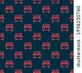 red line romantic in bathroom...   Shutterstock .eps vector #1958250760