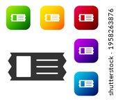 black cinema ticket icon...   Shutterstock .eps vector #1958263876