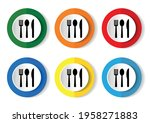 spoon  fork and knife icon... | Shutterstock .eps vector #1958271883