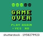 game over screen. pixel 8 bit... | Shutterstock .eps vector #1958279923