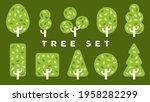 trees set. plants isolated.... | Shutterstock .eps vector #1958282299