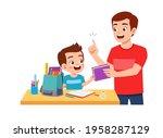 cute little boy study with... | Shutterstock .eps vector #1958287129