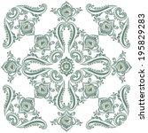 floral fancy vintage pattern ... | Shutterstock .eps vector #195829283