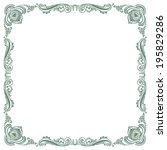 floral fancy vintage pattern... | Shutterstock .eps vector #195829286
